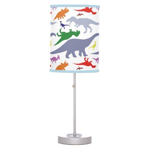 Colorful Dinosaur Pattern (Light) Table Lamp