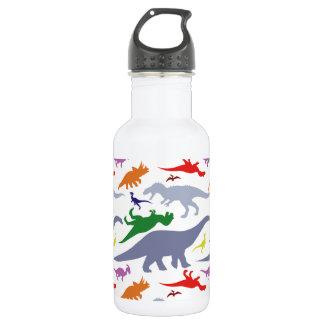 Colorful Dinosaur Pattern (Light) Water Bottle