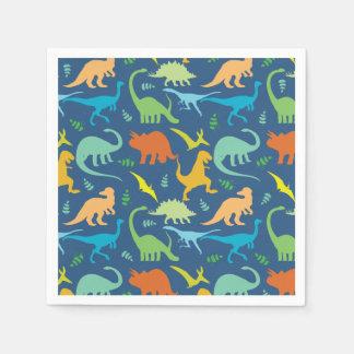 Colorful Dinosaur Pattern Paper Napkin