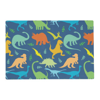 Colorful Dinosaur Pattern Placemat