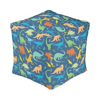 Colorful Dinosaur Pattern Pouf