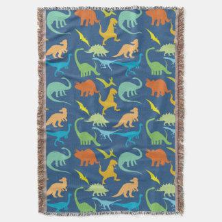 Colorful Dinosaur Pattern Throw