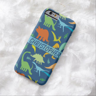 Colorful Dinosaur Pattern to Personalize Barely There iPhone 6 Case