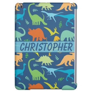 Colorful Dinosaur Pattern to Personalize Cover For iPad Air