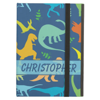 Colorful Dinosaur Pattern to Personalize iPad Air Cover