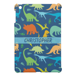 Colorful Dinosaur Pattern to Personalize iPad Mini Covers