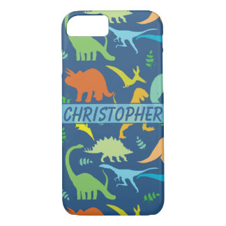 Colorful Dinosaur Pattern to Personalize iPhone 7 Case