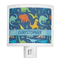 Colorful Dinosaur Pattern to Personalize Night Light