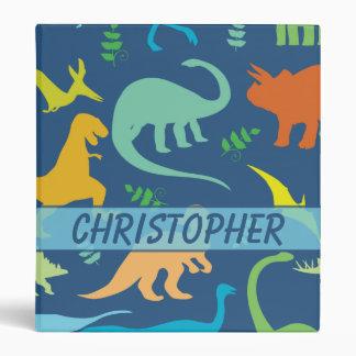 Colorful Dinosaur Personalize Binder