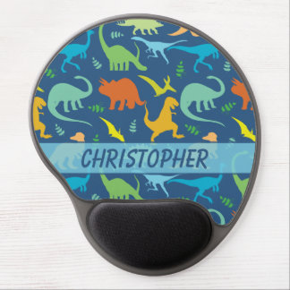 Colorful Dinosaur to Personalize Gel Mouse Pad