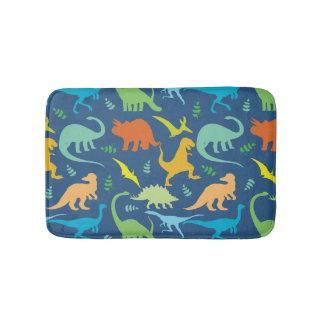 Colorful Dinosaurs Bathroom Mat