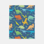 Colorful Dinosaurs Fleece Blanket at Zazzle