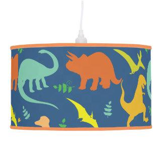 Colorful Dinosaurs Hanging Lamp