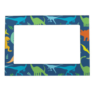 Colorful Dinosaurs Magnetic Picture Frame
