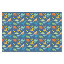 Colorful Dinosaurs Pattern Tissue Paper