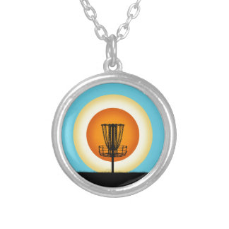 Colorful Disc Golf Basket Personalized Necklace