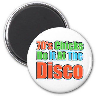 Colorful Disco 2 Inch Round Magnet