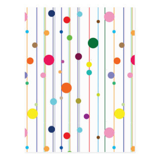 Colorful Disco Circle Pattern Postcard