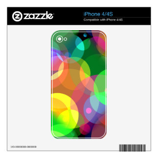 Colorful Disco Dots Skin For The iPhone 4S