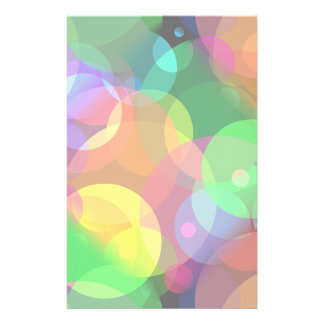 Colorful Disco Dots Stationery