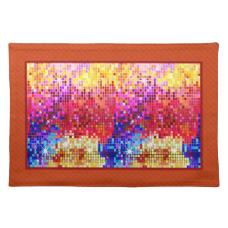 Colorful Disco Glitter Geometric Pattern Cloth Placemat