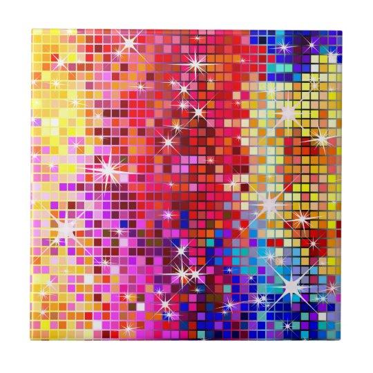 Colorful Disco Mirror Tile