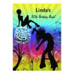 colorful disco retro  party Invitation