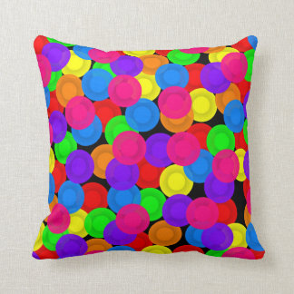 Colorful Dishes Throw Pillows