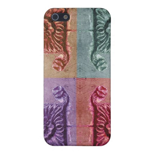 colorful distressed floral case for iPhone 5