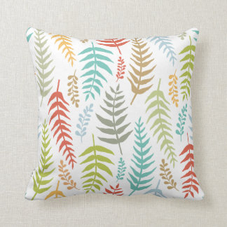 Colorful Ditsy  Floral Background | Throw Pillow