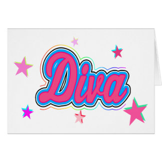 Colorful Diva Graffiti Art Card