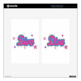 Colorful Diva Graffiti Art Skin For Kindle Fire