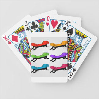 Colorful divans bicycle playing cards