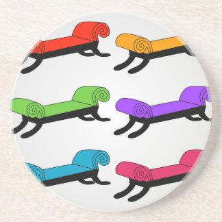 Colorful divans coaster