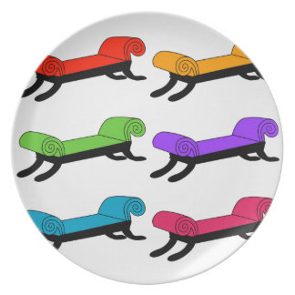 Colorful divans dinner plate