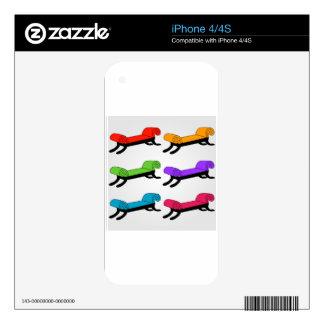 Colorful divans iPhone 4S decals