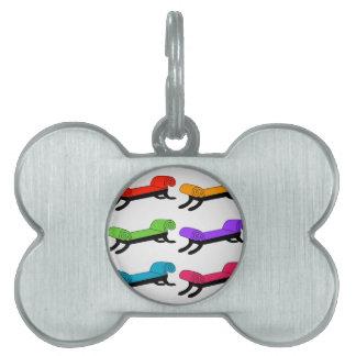 Colorful divans pet name tag