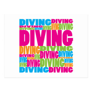 Colorful Diving Post Cards