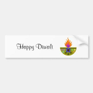 Colorful Diwali Lamp Diya Bumper Sticker