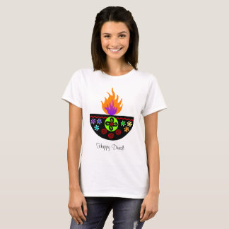 Colorful Diwali Lamp Diya T-Shirt