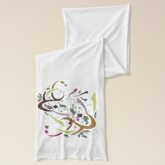 Colorful Diwani letters scarf