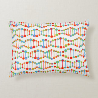 Colorful DNA structure pattern Decorative Pillow