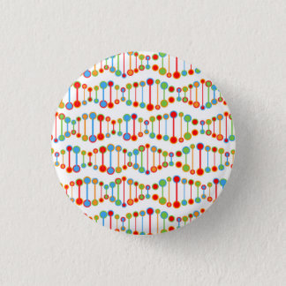 Colorful DNA structure pattern Pinback Button