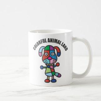 colorful dog coffee mug