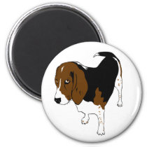 Colorful dog design magnet
