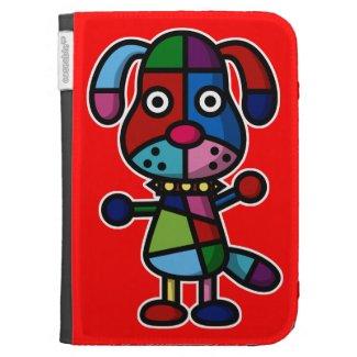 colorful dog kindle 3 case