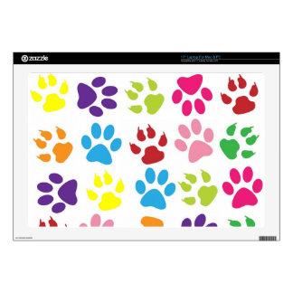 Colorful Dog Pawprints Design, Laptop Skin PC Mac
