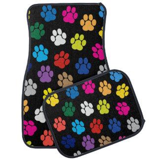 Colorful Dog Paws Car Mats