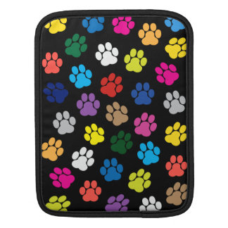 Colorful Dog Paws iPad / iPad 2 Sleeve Cover