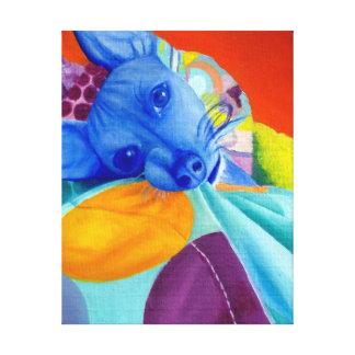Colorful Dog Portrait Canvas Print